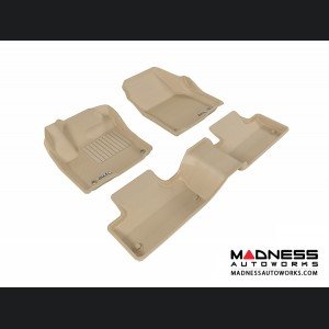 Land Rover Range Rover Evoque Floor Mats (Set of 3) - Tan by 3D MAXpider