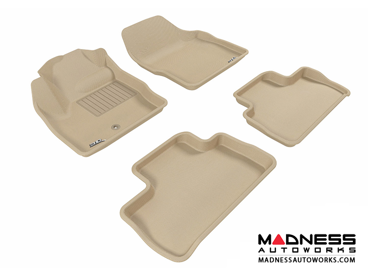 Land Rover Lr2 Floor Mats Set Of 4 Tan By 3d Maxpider Madness