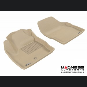Land Rover LR2 Floor Mats (Set of 2) - Front - Tan by 3D MAXpider