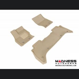 Land Rover Range Rover Floor Mats (Set of 3) - Tan by 3D MAXpider