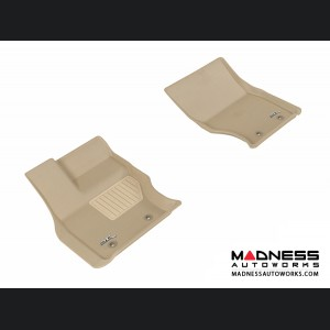 Land Rover Range Rover Floor Mats (Set of 2) - Front - Tan by 3D MAXpider