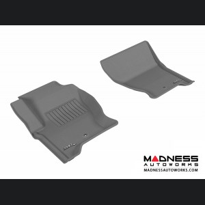 Land Rover LR4 Floor Mats (Set of 2) - Front - Gray by 3D MAXpider