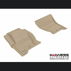 Land Rover LR4 Floor Mats (Set of 2) - Front - Tan by 3D MAXpider