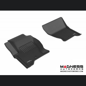 Land Rover LR4 Floor Mats (Set of 2) - Front - Black by 3D MAXpider