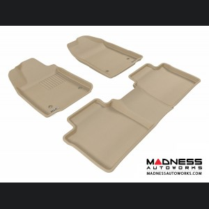 Lexus ES350 Floor Mats (Set of 3) - Tan by 3D MAXpider