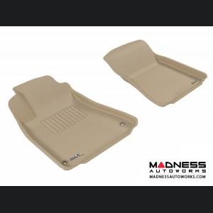 Lexus IS250/ IS350/ ISF Floor Mats (Set of 2) - Front - Tan by 3D MAXpider