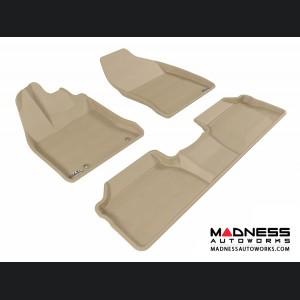 Lexus CT200H Floor Mats (Set of 3) - Tan by 3D MAXpider