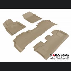 Lexus LX570 Floor Mats (Set of 4) - Tan by 3D MAXpider