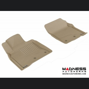 Toyota Land Cruiser Floor Mats (Set of 2) - Front - Tan by 3D MAXpider