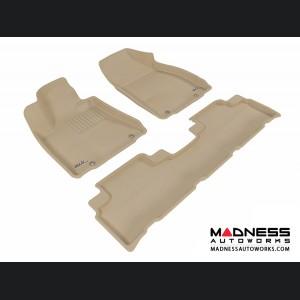 Lexus RX350/ RX450H Floor Mats (Set of 3) - Tan by 3D MAXpider