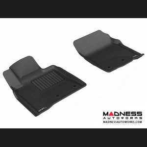 Toyota Land Cruiser Floor Mats (Set of 2) - Front - Black by 3D MAXpider