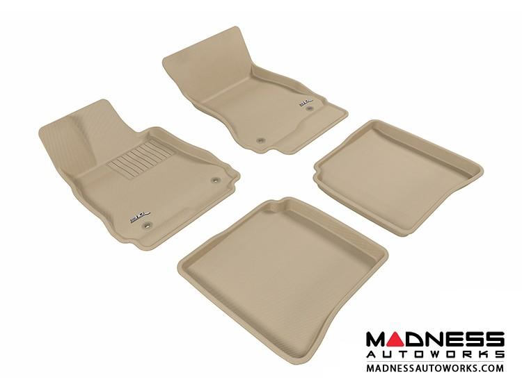 Mercedes-Benz S-Class (W221) Floor Mats (Set of 4) - Tan by 3D MAXpider