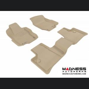 Mercedes Benz ML-Class (W164) Floor Mats (Set of 3) - Tan by 3D MAXpider