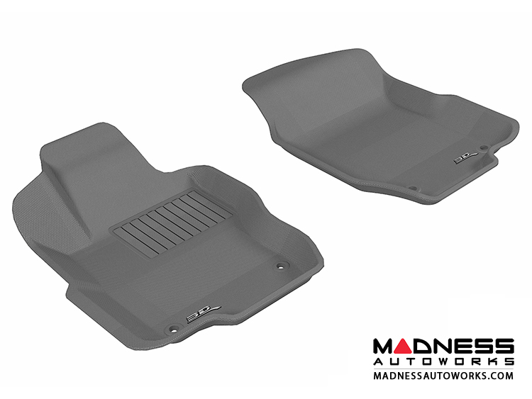 Mercedes Benz GL-Class(X164) Floor Mats (Set of 2) - Front - Gray by 3D MAXpider