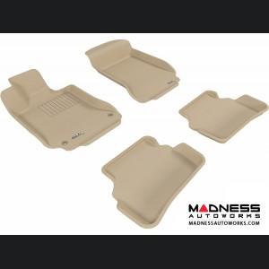 Mercedes Benz C-Class (W204) Sedan Floor Mats (Set of 4) - Tan by 3D MAXpider