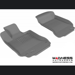 Mercedes Benz C-Class (W204) Sedan/ Coupe Floor Mats (Set of 2) - Front - Gray by 3D MAXpider
