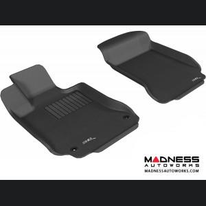 Mercedes Benz C-Class (W204) Sedan/ Coupe Floor Mats (Set of 2) - Front - Black by 3D MAXpider