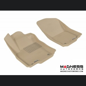 Mercedes Benz ML-Class (W166) Floor Mats (Set of 2) - Front - Tan by 3D MAXpider