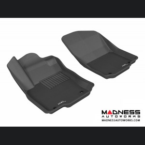 Mercedes Benz ML-Class (W166) Floor Mats (Set of 2) - Front - Black by 3D MAXpider