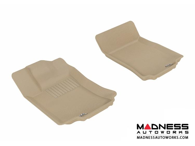 Mercedes-Benz R300/ R350/ R500 Floor Mats (Set of 2) - Front - Tan by 3D MAXpider