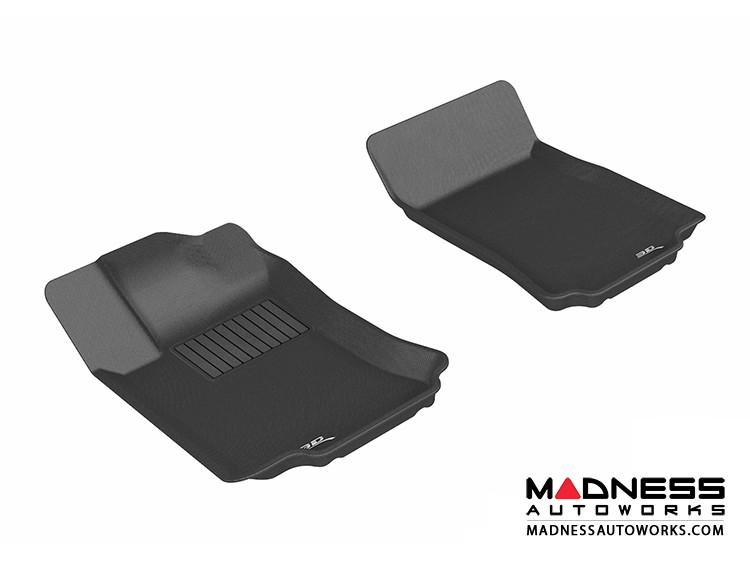 Mercedes-Benz R300/ R350/ R500 Floor Mats (Set of 2) - Front - Black by 3D MAXpider