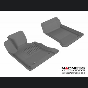 Mercedes Benz GLK-Class Floor Mats (Set of 2) - Front - Gray by 3D MAXpider