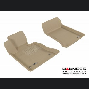 Mercedes Benz GLK-Class Floor Mats (Set of 2) - Front - Tan by 3D MAXpider