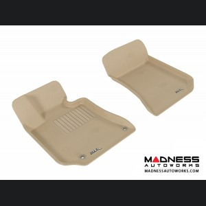 Mercedes Benz E-Class (C207) Coupe/ Convertible Floor Mats (Set of 2) - Front - Tan by 3D MAXpider