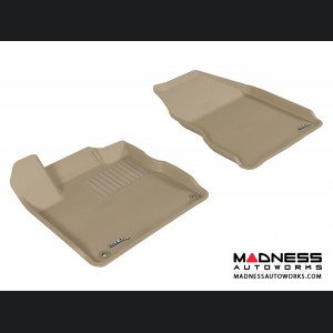 Nissan Murano Floor Mats (Set of 2) - Front - Tan by 3D MAXpider
