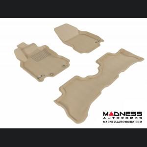 Nissan Cube Floor Mats (Set of 3) - Tan by 3D MAXpider