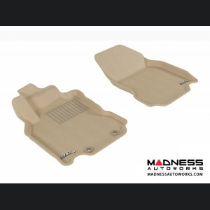 Nissan Cube Floor Mats (Set of 2) - Front - Tan by 3D MAXpider