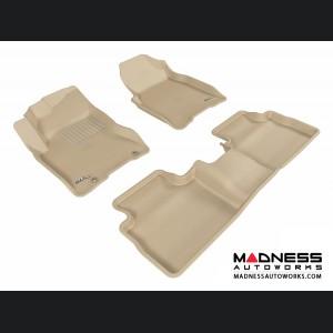 Nissan Rogue Floor Mats (Set of 3) - Tan by 3D MAXpider