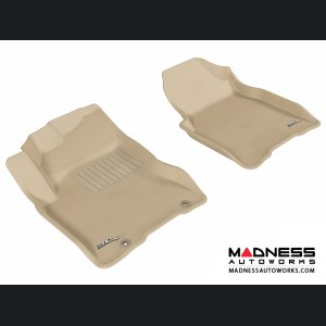 Nissan Rogue Floor Mats (Set of 2) - Front - Tan by 3D MAXpider
