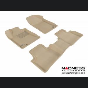 Nissan Maxima Floor Mats (Set of 3) - Tan by 3D MAXpider