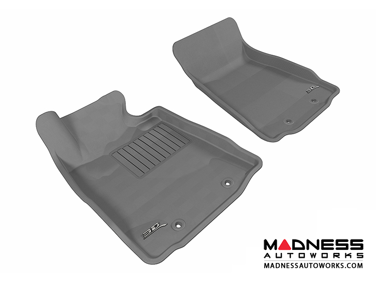 Nissan 370Z Floor Mats (Set of 2) - Front - Gray by 3D MAXpider