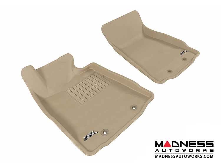 Nissan 370Z Floor Mats (Set of 2) - Front - Tan by 3D MAXpider