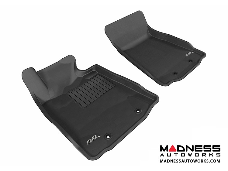 Nissan 370Z Floor Mats (Set of 2) - Front - Black by 3D MAXpider