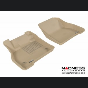 Nissan Leaf Floor Mats (Set of 2) - Front - Tan by 3D MAXpider