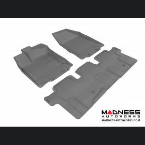 Nissan Pathfinder Floor Mats (Set of 3) - Gray by 3D MAXpider