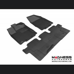 Nissan Pathfinder Floor Mats (Set of 3) - Black by 3D MAXpider