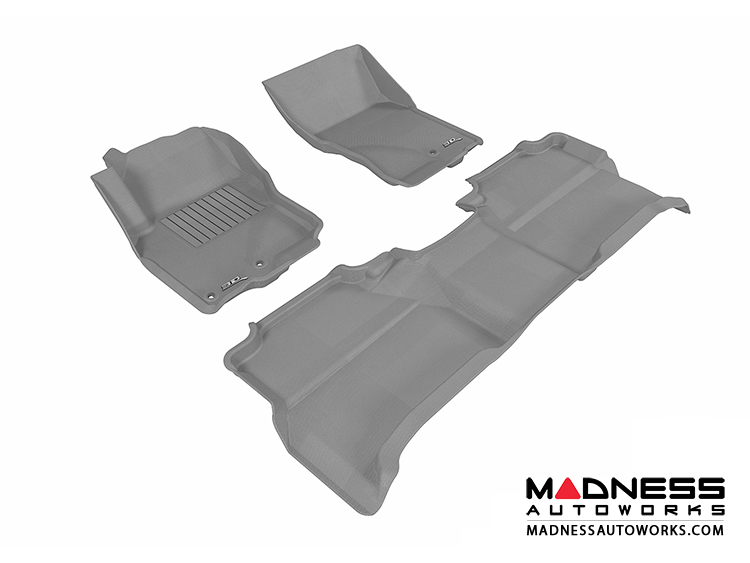 Nissan Frontier Crew Cab Floor Mats (Set of 3) - Gray by 3D MAXpider