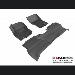 Nissan Frontier Crew Cab Floor Mats (Set of 3) - Black by 3D MAXpider