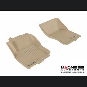 Nissan Frontier Crew/ King Cab Floor Mats (Set of 2) - Front - Tan by 3D MAXpider