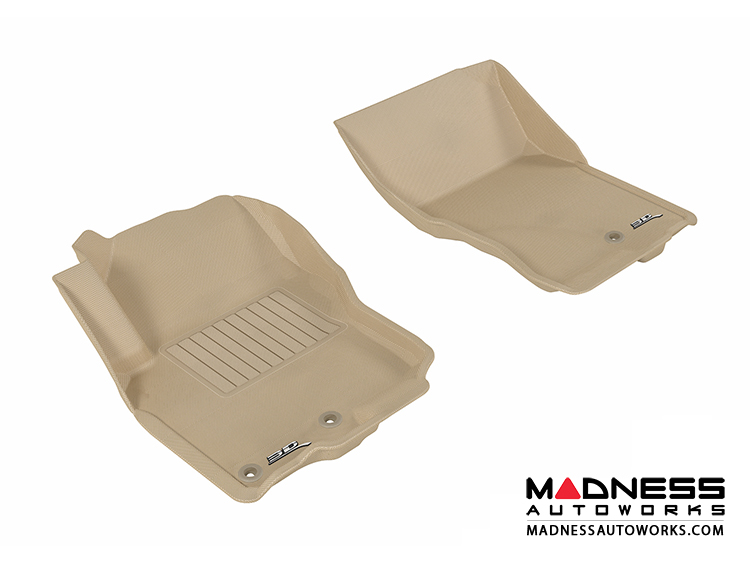 Nissan Frontier Crew/ King Cab Floor Mats (Set of 2) - Front - Tan by 3D MAXpider