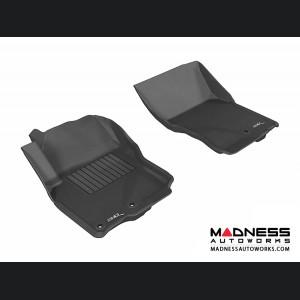Nissan Frontier Crew/ King Cab Floor Mats (Set of 2) - Front - Black by 3D MAXpider