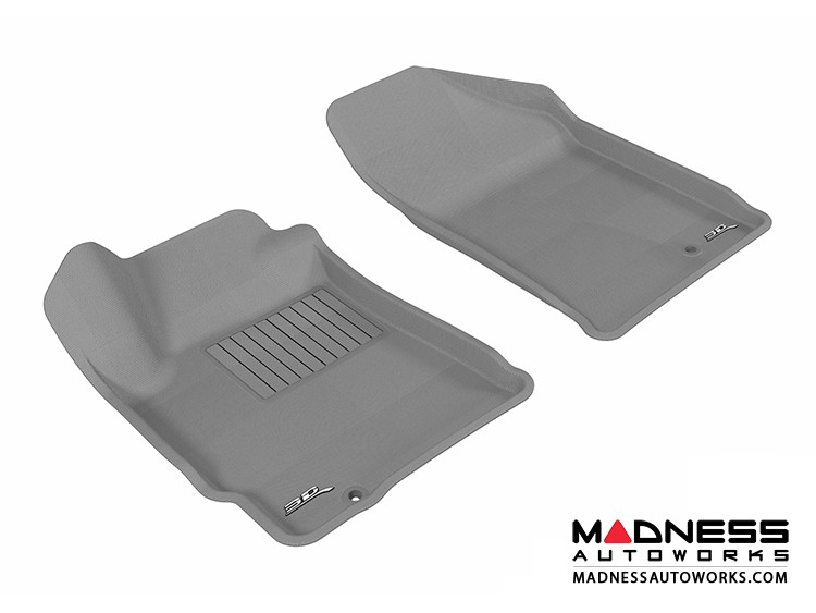 Nissan Altima Coupe/ Sedan Floor Mats (Set of 2) - Front - Gray by 3D MAXpider