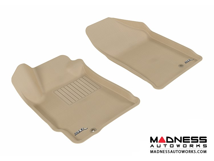 Nissan Altima Coupe/ Sedan Floor Mats (Set of 2) - Front - Tan by 3D MAXpider