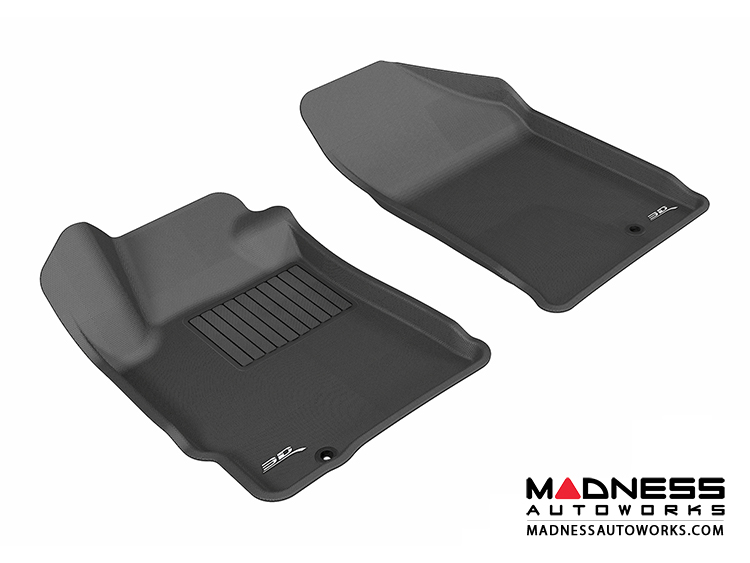 Nissan Altima Coupe/ Sedan Floor Mats (Set of 2) - Front - Black by 3D MAXpider