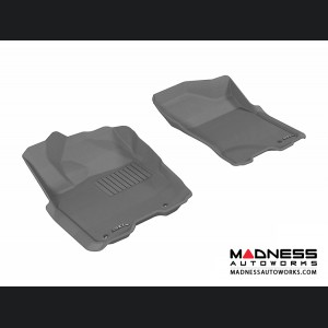 Nissan Titan King/ Crew Cab Floor Mats (Set of 2) - Front - Gray by 3D MAXpider