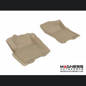 Nissan Titan King/ Crew Cab Floor Mats (Set of 2) - Front - Tan by 3D MAXpider